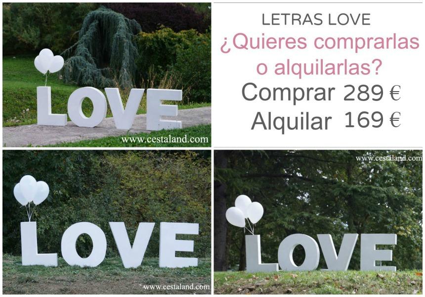 letras love madera bodas eventos