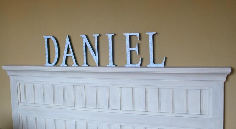 decorar con letras nombres niños