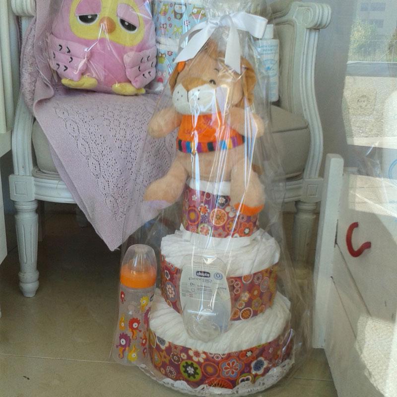 tartas de pañales decoradas