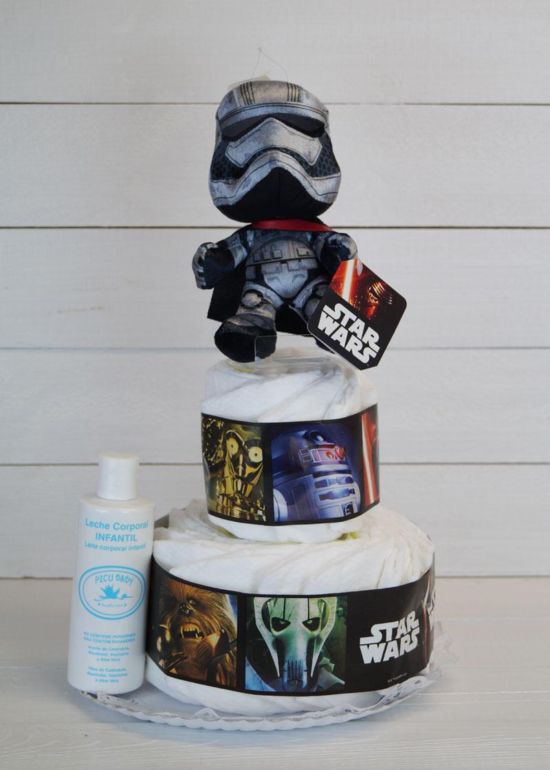 tarta pañales star wars regalos bebes 2 piso