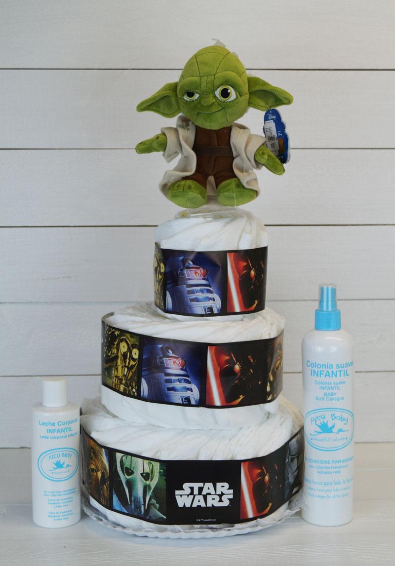 tarta pañales star wars regalos bebes 3 piso