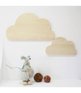 Nubes de madera. Formas de madera