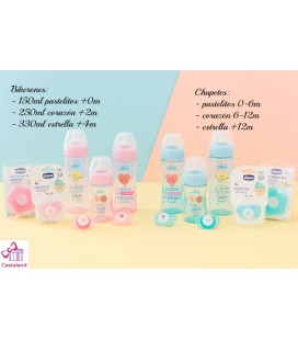 Biberón chicco y mr wonderful 330ml +4m