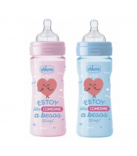Biberón chicco y mr wonderful 250ml +2m