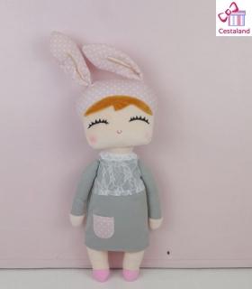 Muñeca de trapo little bunny gris