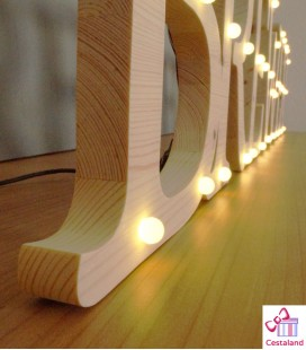 Letras luminosas personalizadas. Letras con luces a medida.