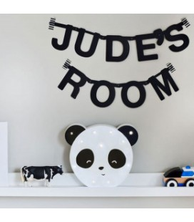 Oso Panda luminoso. Formas con luces Oso Panda