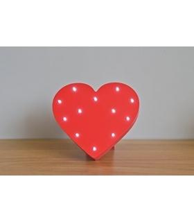 Corazón con Luces. Comprar Letrero luminoso corazón