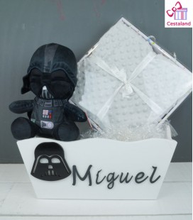 Caja personalizada star wars para bebé. Regalos frikis star wars para bebés