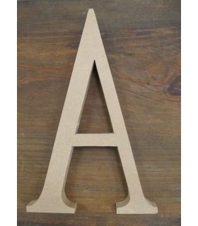 letras standard se sostienen sin pintar de madera letras de madera