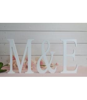 Letras para bodas. Iniciales para bodas (2 iniciales +&)