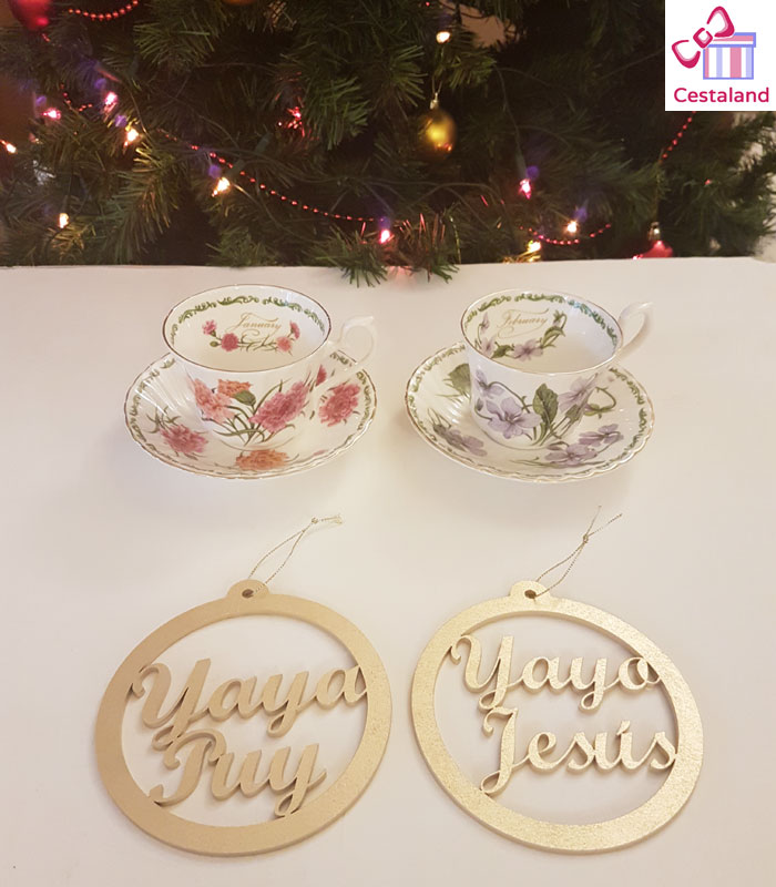 bola navidad personalizadas familia