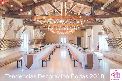 Tendencias decoración bodas para 2018