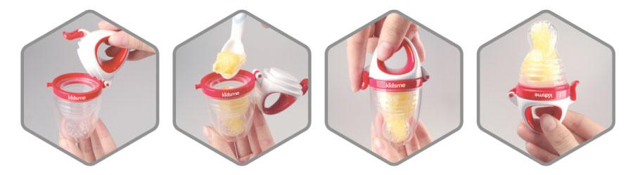 alimentador antiahogo. Red silicona para dar frutas kidsme