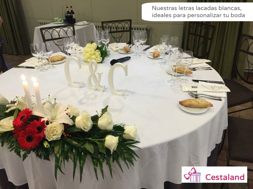 Iniciales y letras para bodas ideas para bodas originales - Decoracion de bodas originales ...
