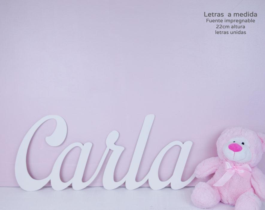 Carla nombres de madera decoración infantil