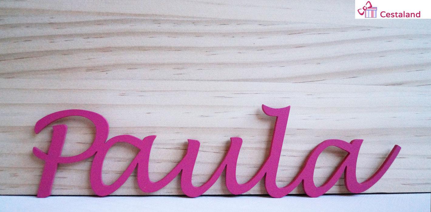Nombres en madera a medida para decorar habitaciones infantiles