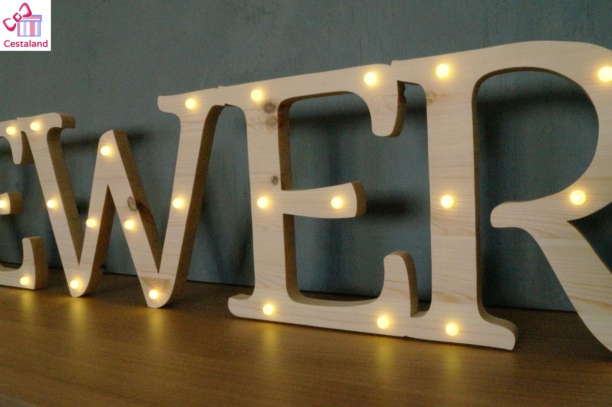 letras con luces a medida