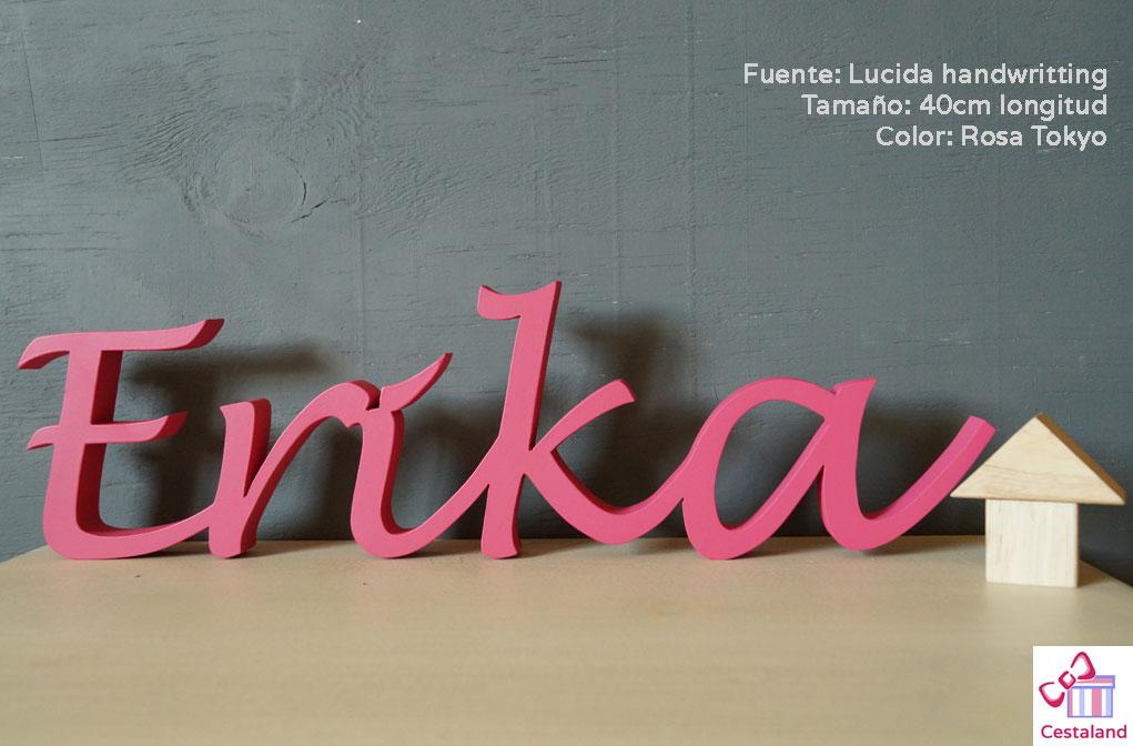 letras rosas para niña de madera