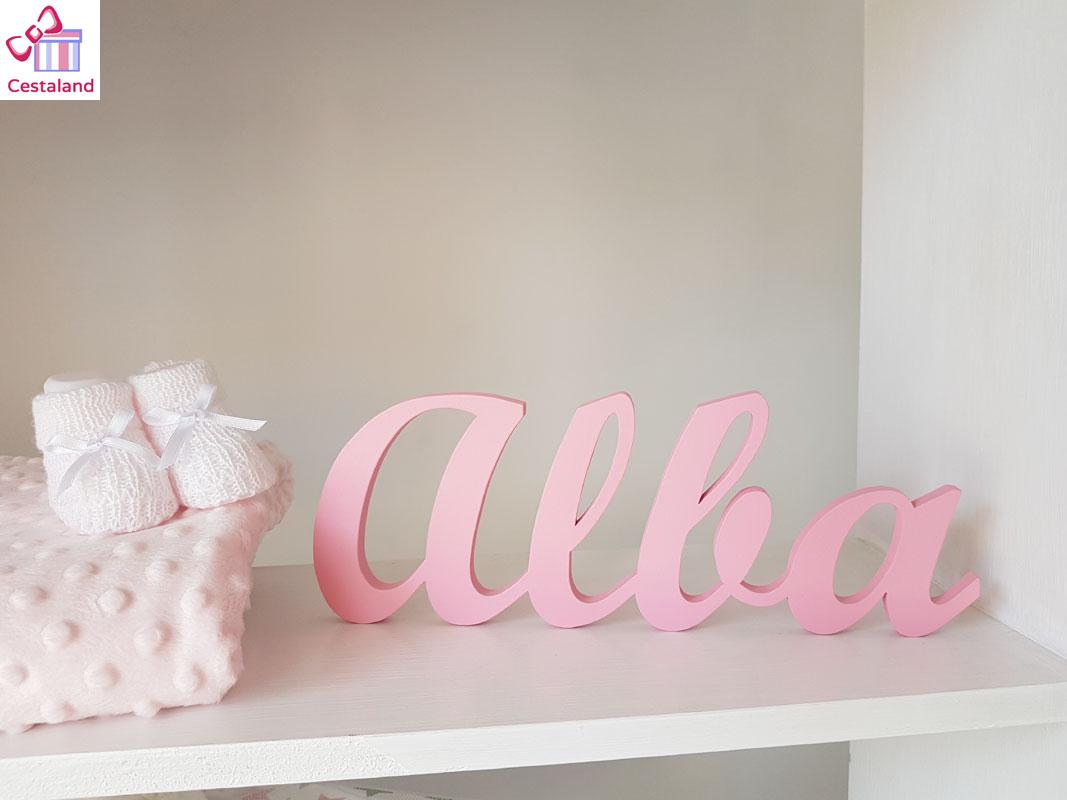 letras de madera Alba personalizadas