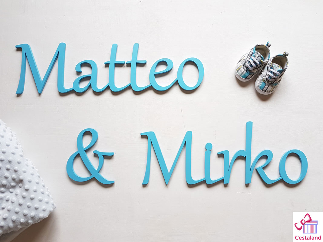letras para gemelos.