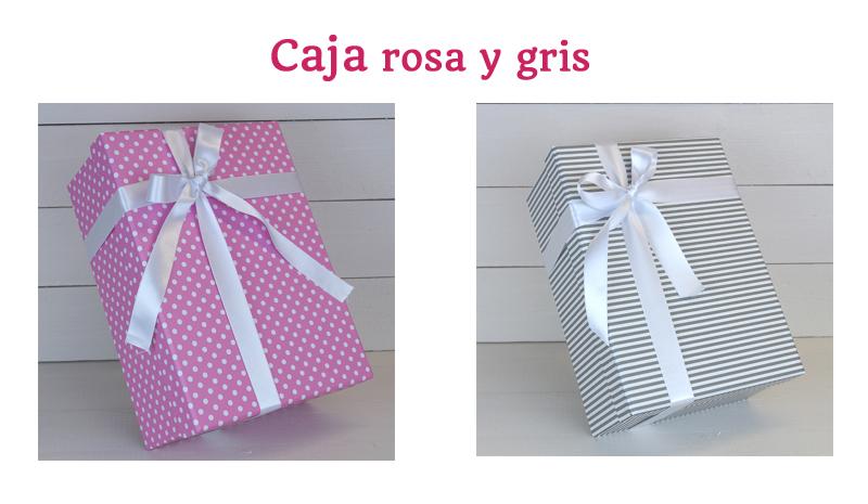 cajas rosas y grises regalos para embarazadas