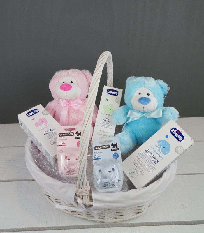 cesta gemelitos regalos para gemelas, gemelos y mellizos