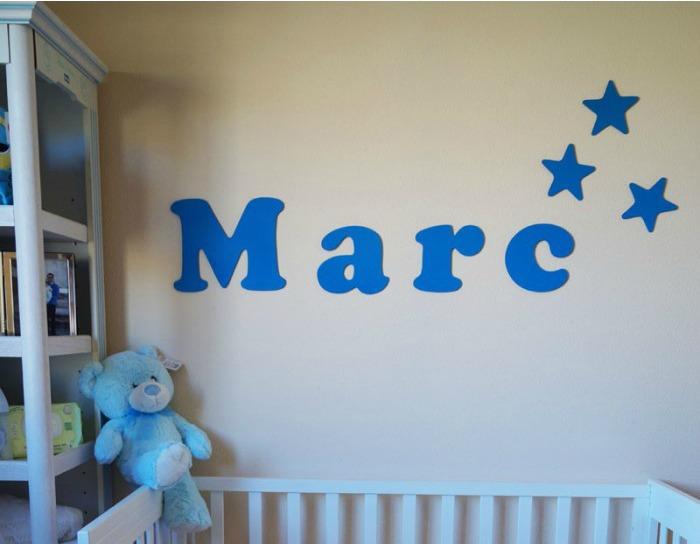 nombres de niños para pared