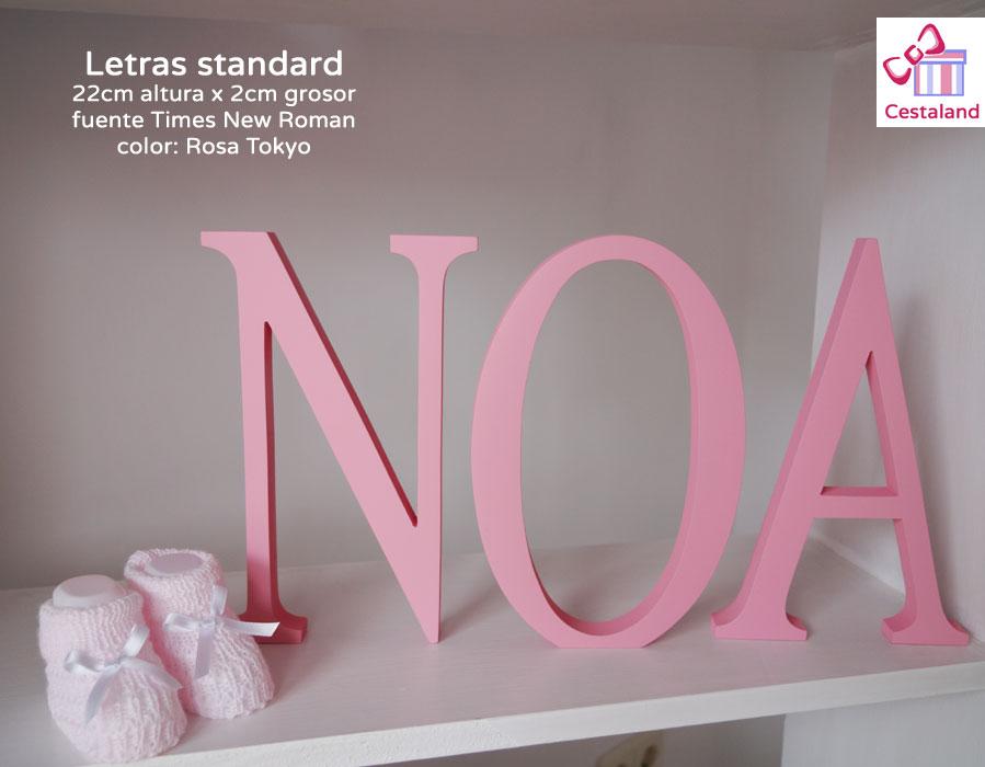 letras de madera standar pintadas NOA
