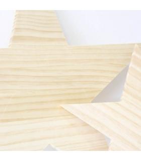Pareja de Estrellas en madera natural. Formas de madera