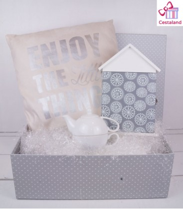 Cesta Enjoy the little things. Regalos para mujeres y parejas
