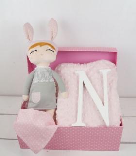 Cesta little bunny. Regalos para recién nacidas y niñas