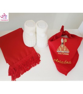 Pañuelico bebés fiestas o san Fermín (desde nacimiento hasta 2-3 años). Comprar Pañuelico de fiestas o san fermín.