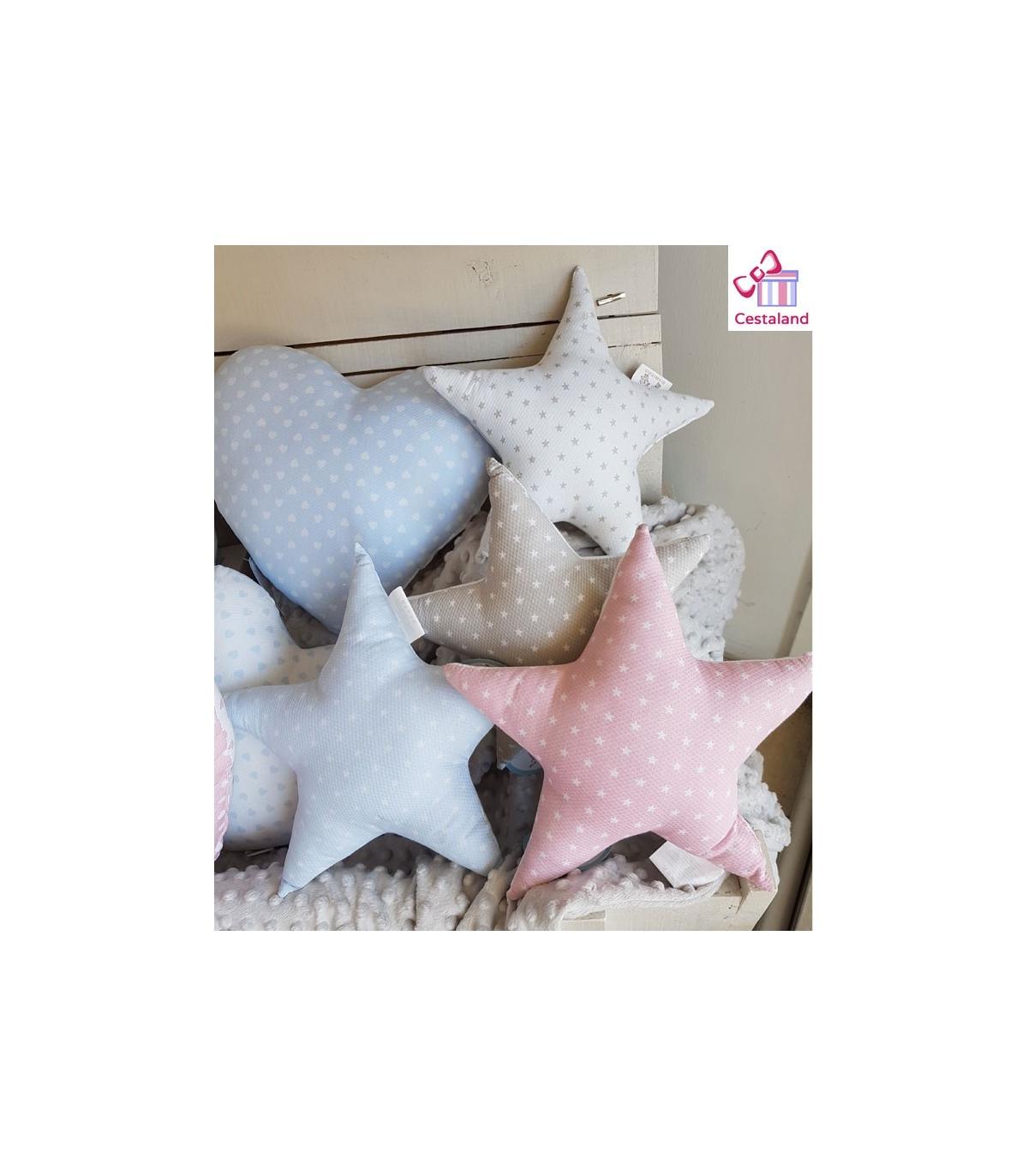 Cojin estrella bebes. Comprar cojines infantiles de formas estrella