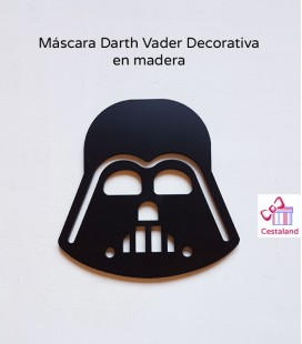 Máscara Darth Vader Decorativa madera. Decoración Star Wars