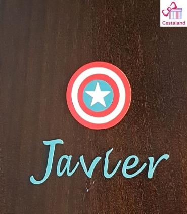 Escudo Capitán América Decorativo madera. Decoración Super Heroes Vengadores