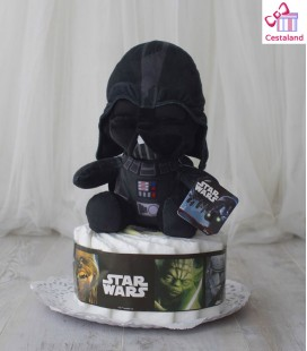Star wars tartas de pañales 1 piso