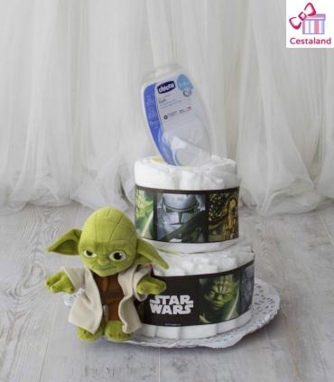Star wars tartas de pañales 2 pisos. Comprar regalos frikis bebes