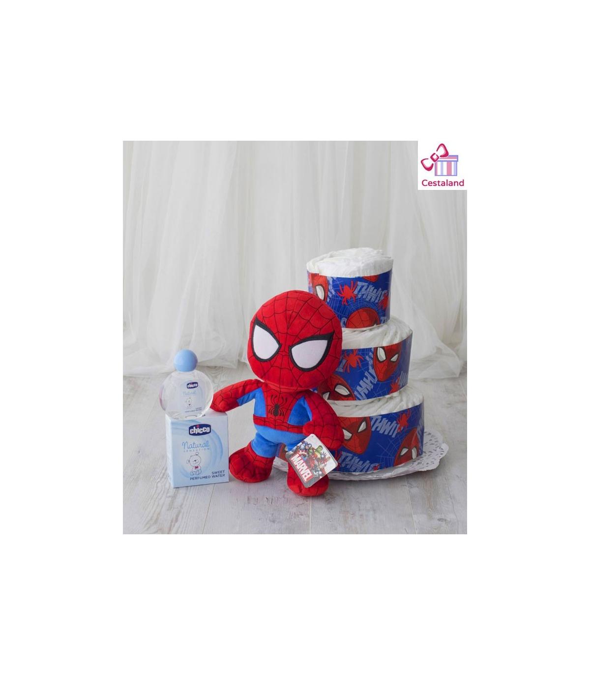Cosas Frikis Para Bebes.Tarta Panales Spiderman 3 Pisos Regalos Frikis Para Bebes