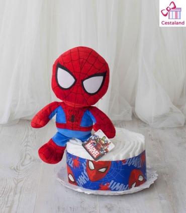 Tarta Pañales Spiderman mini. Comprar Regalos Bebes Frikis