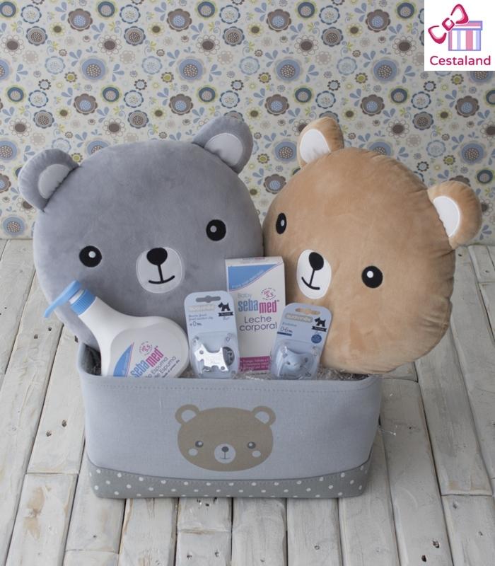 Cesta Gemelos Soft Bear. Canastilla para mellizos Comprar