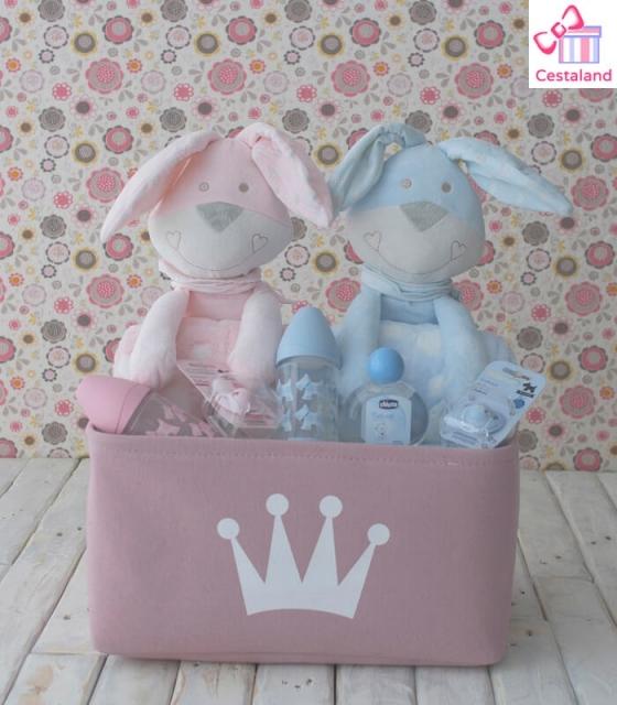 Accesorios Para Bebes Gemelos.Cesta Para Mellizos Bunny Regalos Para Gemelos O Mellizos