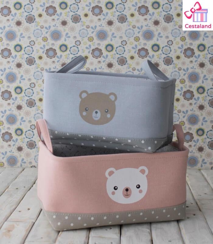 Cesta Ositos para crear tus regalos para bebés. Canastillas Personalizadas
