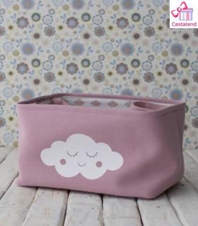 Cesta Nube rosa. Crea tus regalos para bebés. Canastillas Personalizadas