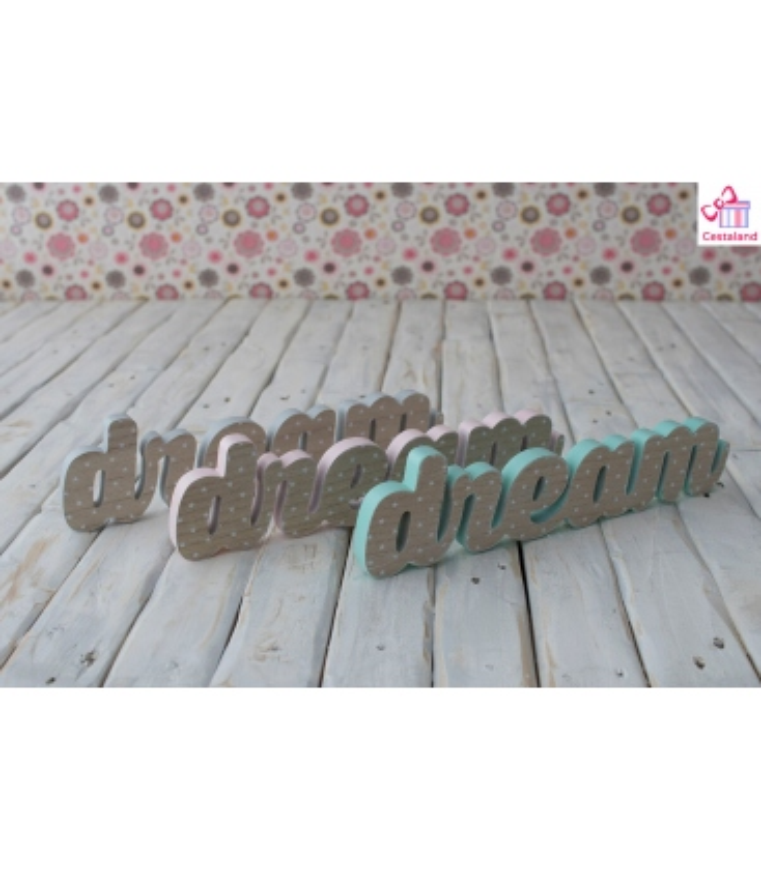 Letras Dream de Madera. Comprar letras madera Dream