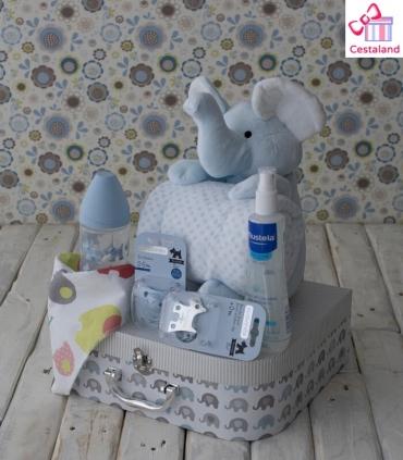 Cesta para Bebé Elefante Maletín. Comprar canastilla para bebés