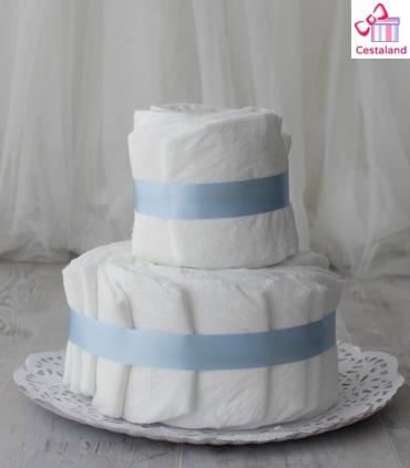 Tarta de pañales 2 pisos. Crea tus propias tartas de pañales.
