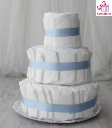 Tarta de pañales 3 pisos. Crea tus propias tartas de pañales.