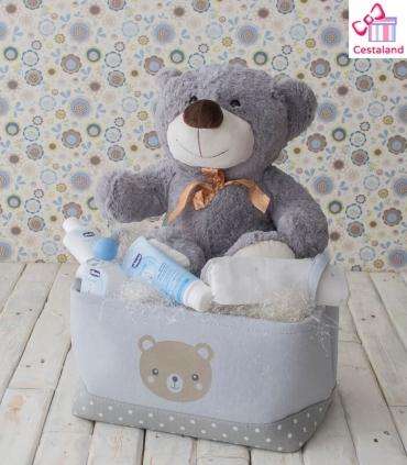 Cestas para Bebés Osito. Comprar Regalos para bebés y niños