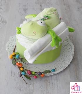 Tarta verde mini. Tartas de pañales